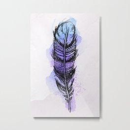 Watercolor feather AP089 Metal Print