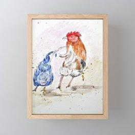 Rooster Butts Framed Mini Art Print