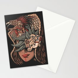 Aztec Eagle Warrior Stationery Cards