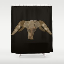 Oh .. another flying elephant Shower Curtain