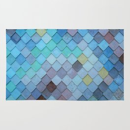 Blue Tiles (Color) Rug