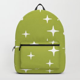 Mid Century Modern Star Pattern 443 Chartreuse Backpack