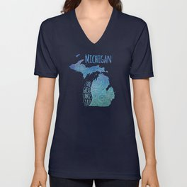 Michigan Unisex V-Neck