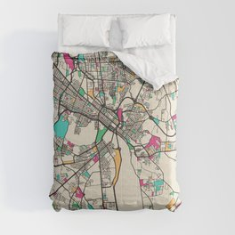 Colorful City Maps: Richmond, Virginia Comforters