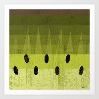 kiwi Art Prints featuring Kiwi by Kakel