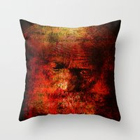 marc Throw Pillows featuring Marc Aurèle's murder by Ganech joe