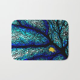 Sea fans diving coral stained glass Bath Mat
