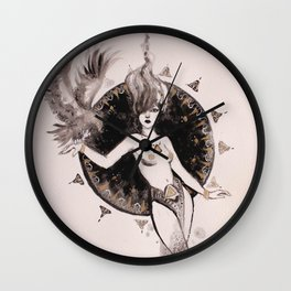 Hawk Lady Wall Clock