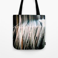 records Tote Bags featuring Records On Records by Mission85