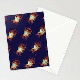 Blue Nautilus pattern Stationery Cards