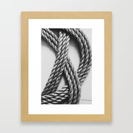 Rope Things Framed Art Print