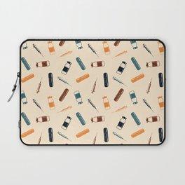 Vintage Vaccines - Large on Cream Laptop Sleeve