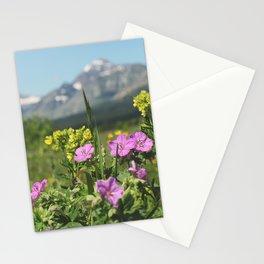glacier wildflowers Stationery Cards
