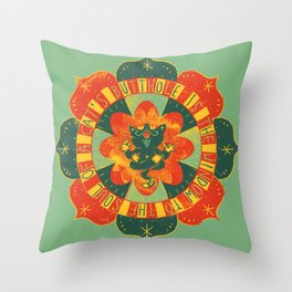 A Cat's Butthole Throw Pillow