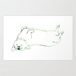Simplistic Corgi Art Print