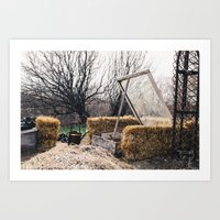 nursery Art Prints featuring Nursery  by Lizabeth Bennett