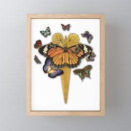 BUTTERFLIES ICE CREAM Framed Mini Art Print