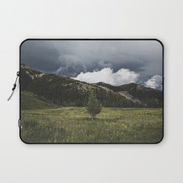Landsape Waterton Meadow and Rolling Hills   Nature   Skyscape Clouds Laptop Sleeve