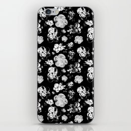 Black and White beaded flower print by Annalee Beer iPhone Skin