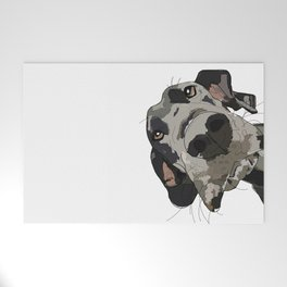 Great Dane dog in your face Welcome Mat