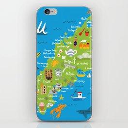 Cornwall Map iPhone Skin