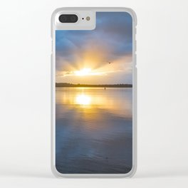Winter Sunset at the Hollering Place Clear iPhone Case