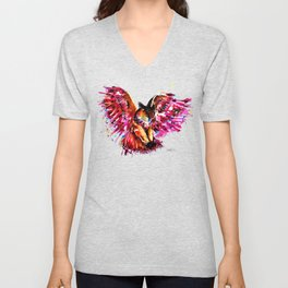 Flying Owl Unisex V-Neck