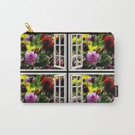 Picture Windows - Dahlia's in bloom Wall Art - Jeanpaul Ferro Carry-All Pouch