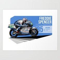 Freddie Spencer - 1985 Kyalami Art Print