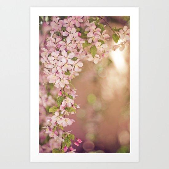 pink frame Art Print