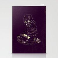 dark side Stationery Cards featuring Dark Side by yortsiraulo