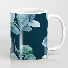 Midnight Leaves Pattern Coffee Mug