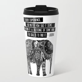 Blessing Buddha Quote Travel Mug