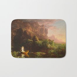 Thomas Cole - The Voyage of Life Childhood, 1842 Bath Mat