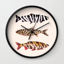 FISH PRINTS Wall Clock