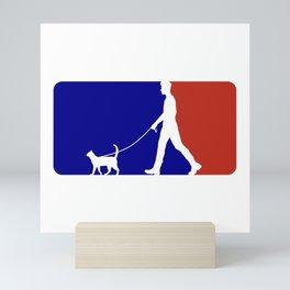 Major League Cat Walker (M) Mini Art Print