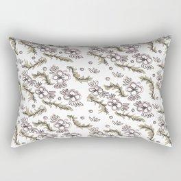 Folk Floral Rectangular Pillow