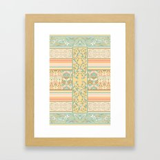 Vintage Stripe Framed Art Print