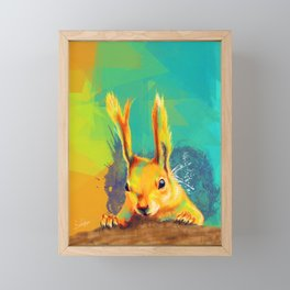 Tassel-eared Squirrel Framed Mini Art Print