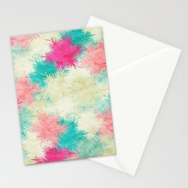 Tropical Fan Palm Paradise – Colorful Stationery Cards