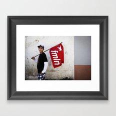 Red Flag Framed Art Print