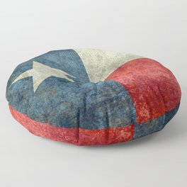 Texas flag, Retro distressed texture Floor Pillow