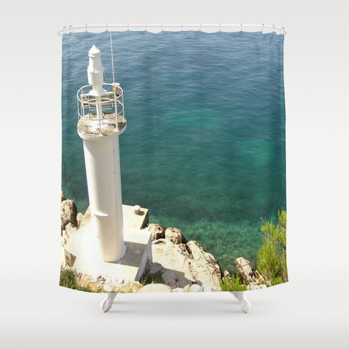 Lighthouse Shower Curtain By Bitifoto