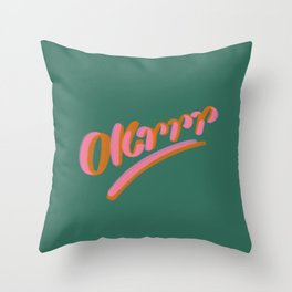 Okrrr Throw Pillow