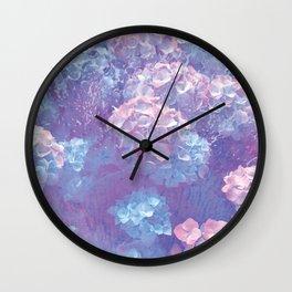 Raining Flowers Wall Clock