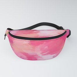 pink and purple kisses lipstick abstract background Fanny Pack