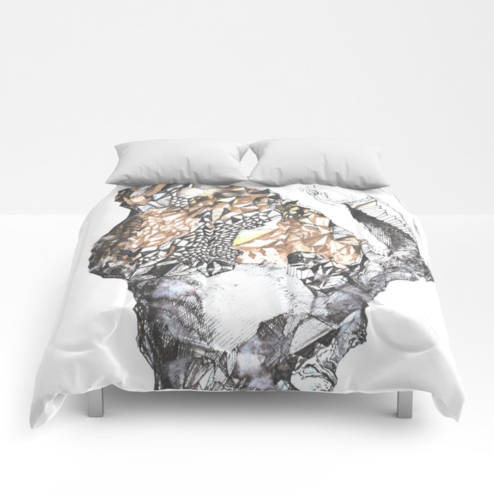 untitled (from the stone maiden series) Comforters