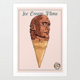 Ice Cream Fame Rock Art Print