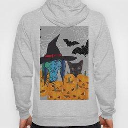 Witch bats pumpkin Halloween Hoody