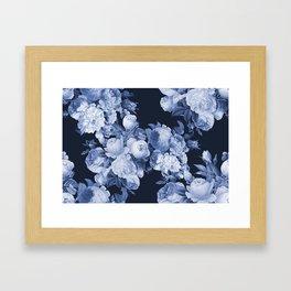 Denim and Roses Framed Art Print